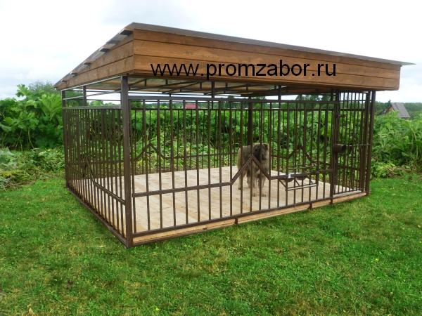 Недорогие и удобные вольеры для крупных собак: овчарок